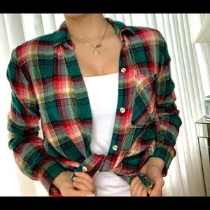 Boyfriend fit American eagle flannel